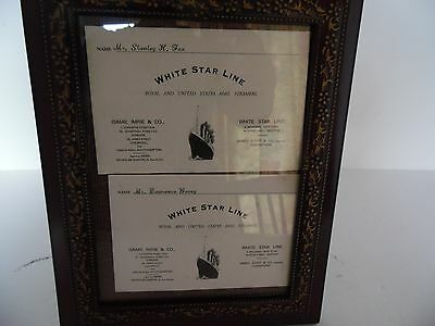 Titanic White Star Line Boarding Pass Replica (2)