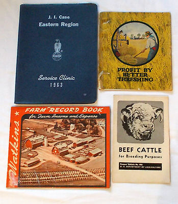 Case 1963 Service Clinic Manual Profit By Better Threshing Farm Beef Cattle Book