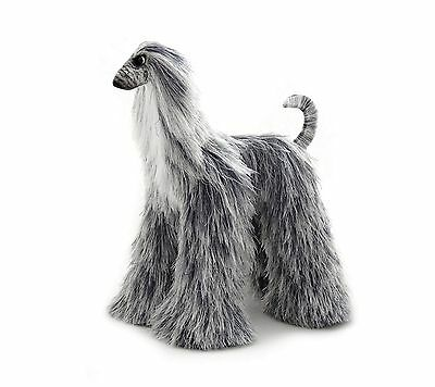 Collectibles Animals Gray White Afghan Hound Cute Plush Toy Stuffed Animals