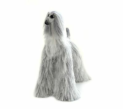Collectibles Animals Light Gray Afghan Hound Cute Plush Toy Stuffed Animals Dog
