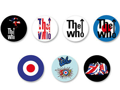 Lot Pack Badge Button Ø25mm Logo The Who Rock UK
