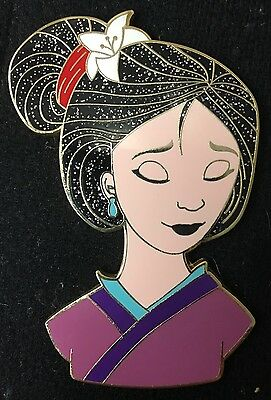 Disney Pin Fantasy Le Princess Mulan Coiffure Hair Series Jumbo