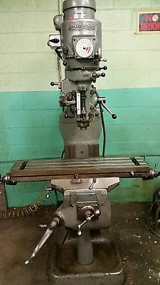 "Bridgeport Vertical Mill 1-1/2 HP J Head 9"" x 36"" Table"