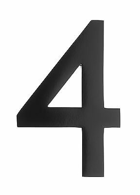 Architectural Mailboxes 5-Inch Brass Floating House Number 4, Black