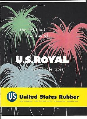 Vintage Bicycle Tire Catalog 1956 U.S.Royal Brand, Color Kings, Coloramic Style