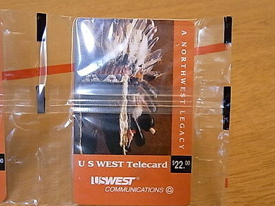 vintage NOS phone card US WEST communications $22 prepaid telecard first edition