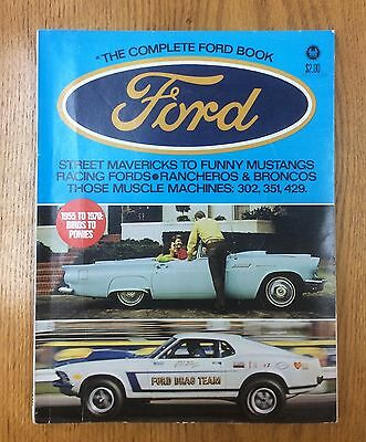 Vintage Original Petersen's Complete Ford book! Boss 429 & 494 CAN-AM engines!