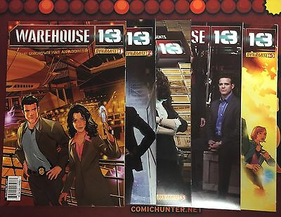 Warehouse 13 #1 2 3 4 5 Complete Series Set Run Lot 1-5 VF to NM- SciFi Dynamite