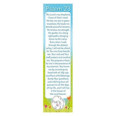 PSALM 23 (10) Bookmarks THE LORD IS MY SHEPHERD Christian Religious page marker