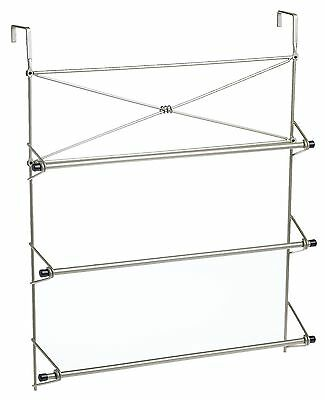 Zenith Bathstyles Over the Door Towel Bar, Satin Nickel