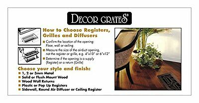 Decor Grates S614R-WH 6-Inch by 14-Inch Painted Return Air, White