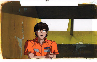 Akira Anime Cel Douga Background Animation Art Kei Talkng to Kaneda in Prison