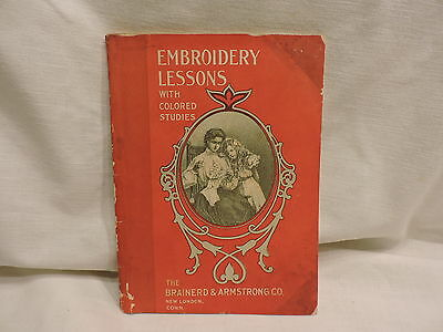 Embroidery Lessons w/Colored Studies 1904 + 2 Lessons by Prof. Tsuneo Takahashi