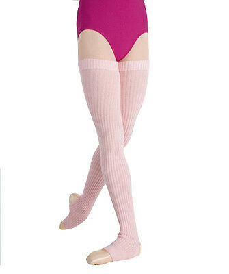 Womens Body Wrappers 36'' Light Pink Stirrup Leg Warmers