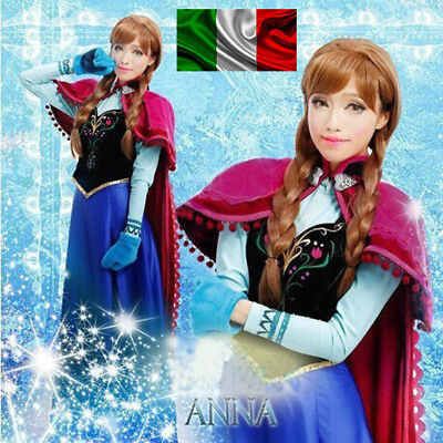 Frozen ANNA Elsa VESTITO ADULTO Fancy Dress Costume Party Italia TRAVESTIMENTI