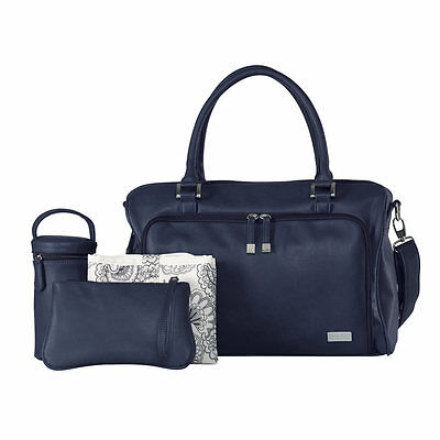 Isoki Double Zip Satchel Nappy Travel Bag DIaper Baby - Navy (Limited Edition)