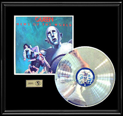 Queen News Of The World  Rare Gold Record Platinum  Disc Album Frame