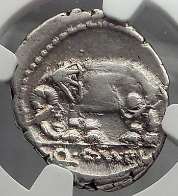 Roman Republic Imperator Metellus Elephant under SULLA Silver Coin NGC i59807