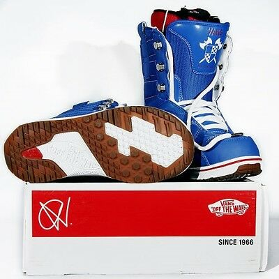 Vans Off The Wall Mens Andreas Wiig Snowboard Boots - Blue/Red - RRP £219.99