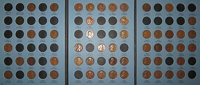 1909-1940 PDS Lincoln Wheat Cent Collection, 52 coins in Whitman inc. Semi-Keys