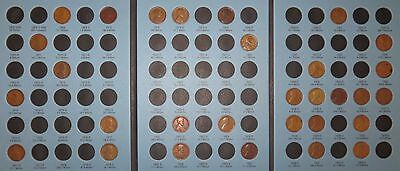 Lincoln Wheat Penny Cent Collection 1909-1940 PDS, 30 coins in Harris/Whitman