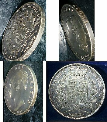 1845 Great Britain Crown KM# 741.   MINTAGE of 159,000 Coins