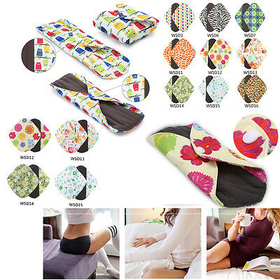 Bamboo Cloth S/M/L/XL Reusable Washable Menstrual Pad Mama Sanitary Pad Liner