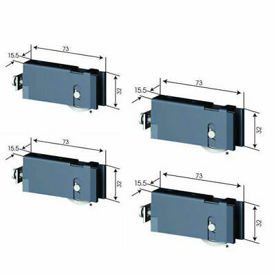 4 X Doric DR211 Adjustable Sliding Door Wheel / Roller Carriage (2 X PAIR)