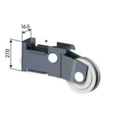 4 X Doric DR206 Adjustable Sliding Door Wheel /  Roller Carriage (2 X Pair)