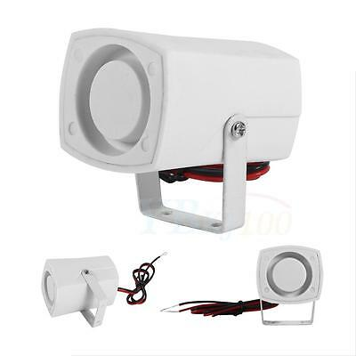 Electronic Wired Horn Siren Security Alarm System Outdoor Indoor DC12V Top Grade