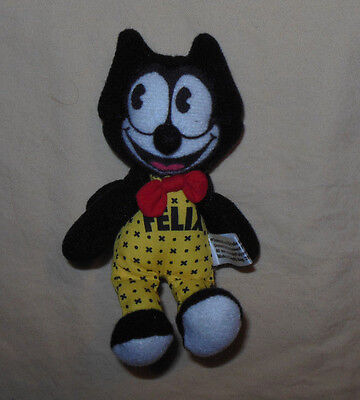 """Rare Vintage 90's Felix The Cat Character Small Stuffed Plush 5"""" Toy Nice Item"""