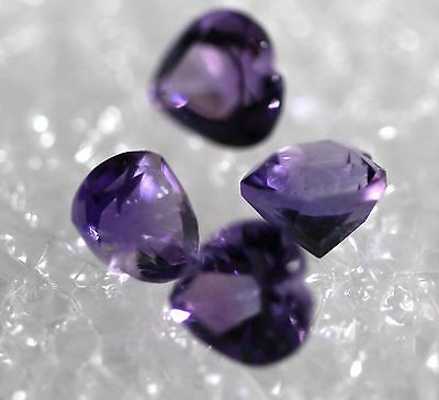 Genuine Natural Amethyst, Lot of 4 stones Jewelry Grade AM-77