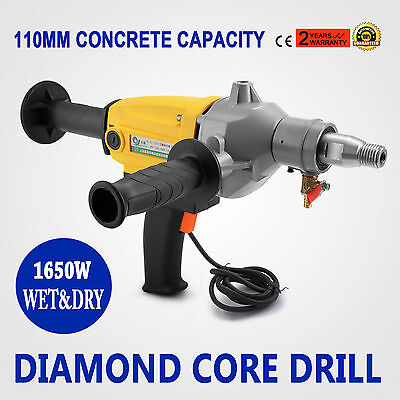 Diamond Core Drill Two Speed Wet & Dry Cutting 80mm Capacity Best CE  BRAND NEW