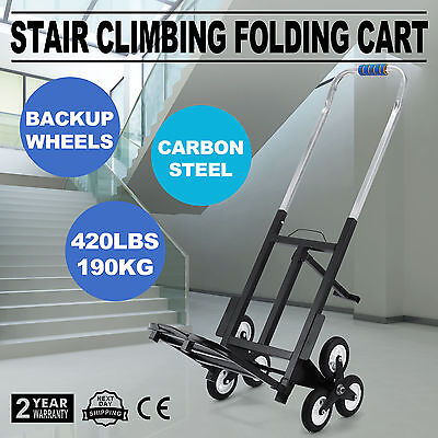 Portable Step Stair Climb Climbing Folding Cart Up To 420lb Trolley Moving