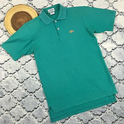 Vtg 70s 80s IZOD LACOSTE Green Polo Youth Alligator Shirt Size 20 Men S