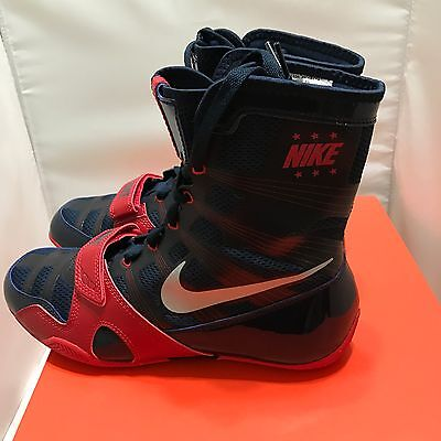 Nike HyperKO Boxing Shoes Obsidian/Red/Silver size 8 US