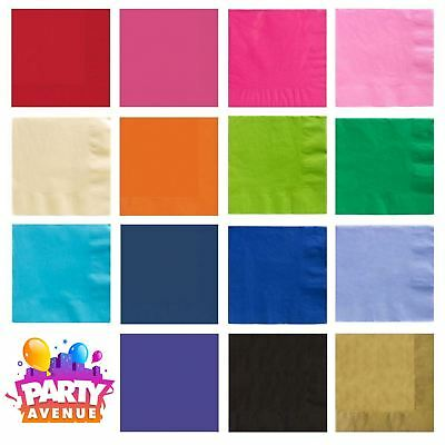 Wedding Luncheon Dinner Napkins 2ply Serviettes Tableware Party Supplies colours