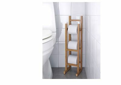 IKEA  RAGRUND Bathroom Toilet Paper Roll Stand Holder Bamboo Stand Rack