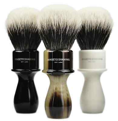 "MS - Extra Density 2 Band 100% Finest Badger Shaving Brush -""Memphis"" -24mm Knot"