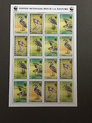 WWF-Briefmarken Republique Centrafricaine 1999 Vögel Sheetlet MNH - Kleinbogen