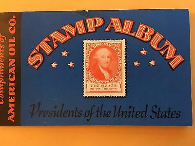 1936 American Oil Gas Co. AMOCO Advertising Stamp Album