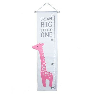 Pink Applique Giraffe Growth Chart Girls Toddlers Bedroom Measuring Height Ruler