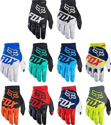 Mens Full Finger Fox Racing Gloves Motocross Cycling Motorcycle MTB Mitts Outsid