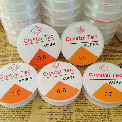 0.5~1.0mm Jewelry Making DIY Strong Elastic String Crystal Transparent Cord Line