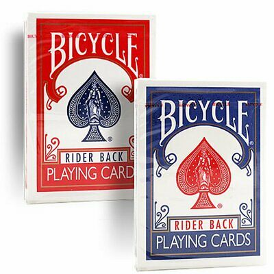 2 Decks (1 x rot / 1 x blau ) Bicycle 807 Rider Back Poker Karten - Old Case