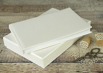 Plain Ivory Guest Book. DIY Wedding Guest Book. Ivory Wedding Guest Book.