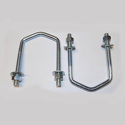 "2 x Large V Bolt 3""x 3/8"" For Mast Up to 2.5"" O/D"