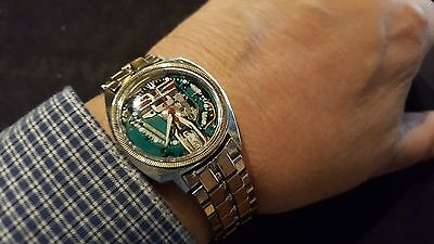 1964 BULOVA ACCUTRON Solid 14kt Ring SPACEVIEW 214 Asymmetric case Original band