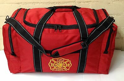 Firefighter Fireman X-Large Rescue Turnout Bunker Duffle Gear Carry Bag - Red