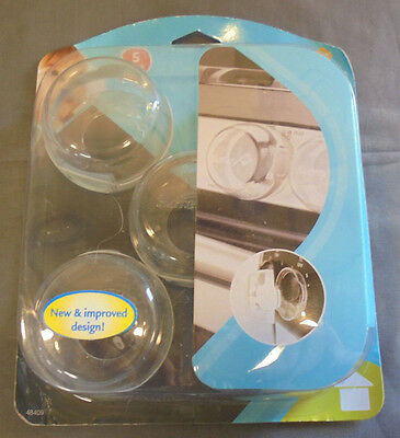Safety 1st 48409 Clear View Stove Knob Covers  5 Count  New